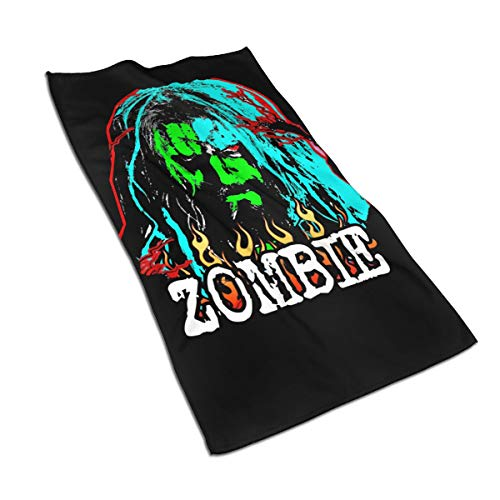 Denise K Steinbach Rob Zombie Towels Super Soft Microfiber Towels Suitable for Home Swimming Beach Hotel Etc.Breathable, Sweat-Absorbing, Refreshing and Easy Carry Quick Drying Towels 27.517.5in -