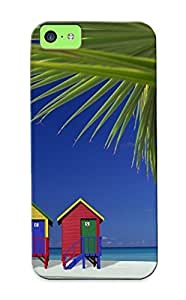 ExCXox-2558-vTrWq Special Design Back Colorful Beach Houses Phone Case Cover For Iphone 5c