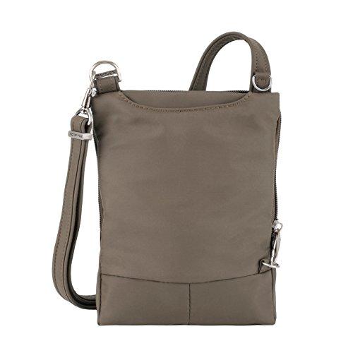 Travelon Bag Classic Light Anti Mini Mocha Theft Crossbody Black pqpfRr
