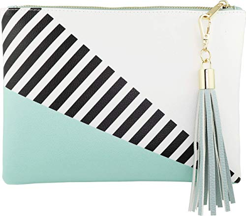 B BRENTANO Vegan Clutch Bag Pouch with Tassel Accent (Spearmint) by B BRENTANO (Image #1)