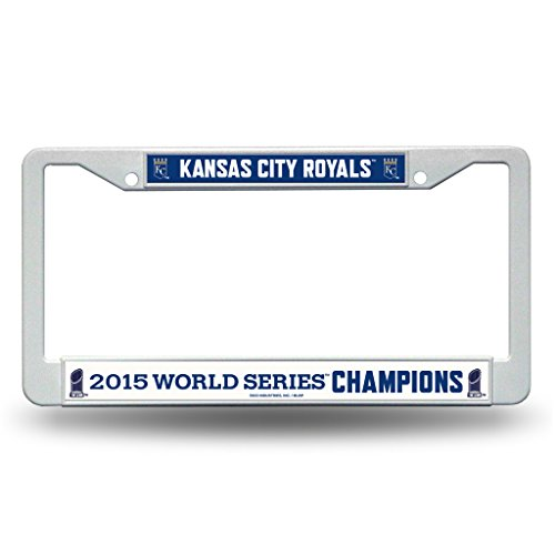 Kansas City Royals Official MLB 12 inch x 6 inch 2015 World Series Champions Plastic License Plate Frame by Rico Industries 890568