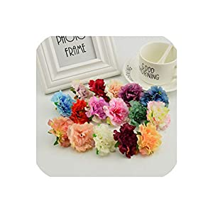 April With You Silk Carnation Heads Scrapbooking DIY Wreath Flower Wall Artificial Flower for Home Wedding Decoration Fake Flower Stamens 103