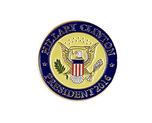 Hillary Clinton President 2016 Seal Lapel Pin/Hat Tac