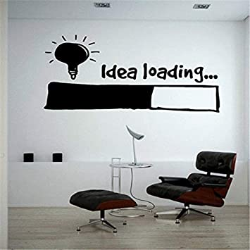 Stycars® Wall Sticker, Idea Loading Light Bulb Lamp Window Car DIY Decal Vinyl Silhouette Clip Art Vector Plotter Cut Decor [Size: 56x89 CM]: Amazon.es: Bricolaje y herramientas