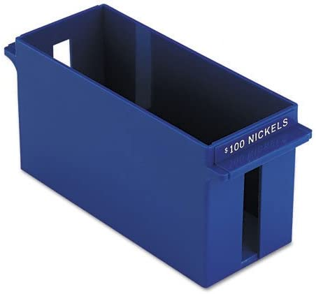 PMC05034 Pm Company Large-Capacity Plastic Coin Trays w//Capacity amp;amp; Denomination Etched on Side
