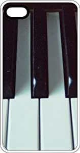 Piano Keys White Plastic Case for Apple iPhone 5 or iPhone 5s