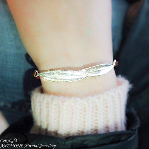 (Casual Everyday, Handmade,Double Olive Leaf, Greek Nature Inspired, Open, one size, Adjustable Bracelet)
