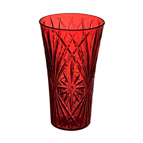 Royal Imports Flower Acrylic Vase Decorative Centerpiece for Home or Wedding Non-Breakable Plastic (11