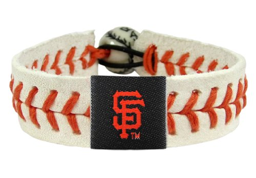 Bracelet Gamewear (GameWear 4421401703 San Francisco Giants Genuine Baseball Bracelet)