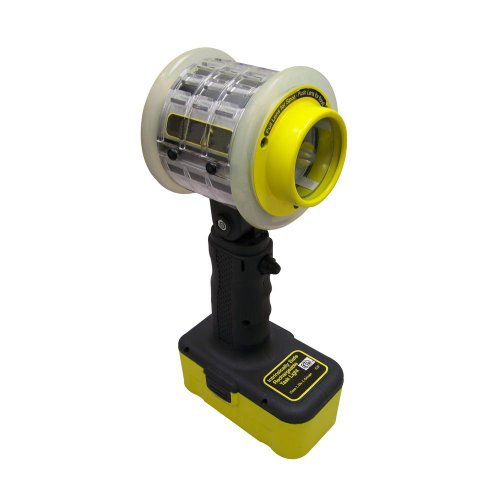 Lind Equipment XP300LED Instrinsically Safe Work Light, Rechargeable, LED, 4.8V NiMH battery, 7 hours, Hanging Hook, Pedestal Design, Wrist Straps, Protective Lens - Instrinsically Safe