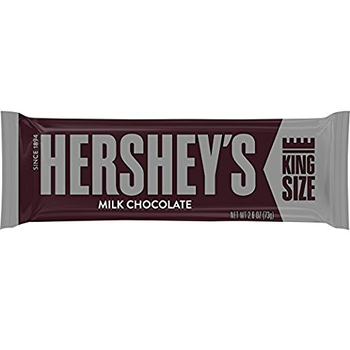 HERSHEY'S Chocolate Candy Bars, King Size (Pack of 18) -