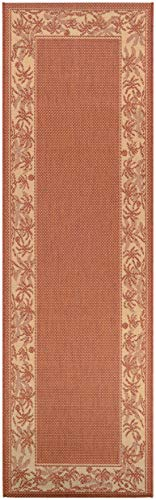 Couristan 1222 1122 Recife Island Retreat Terra Cotta Natural Runner Rug, 2-Feet 3-Inch by 11-Feet 9-Inch