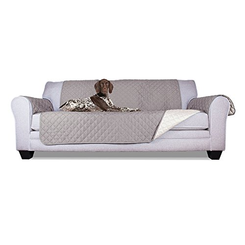 ALEKO PSC03G 110 x 71 Inches Pet Sofa Slipcover Spill Scratch Pet Fur Protection Cover for Furniture, Gray