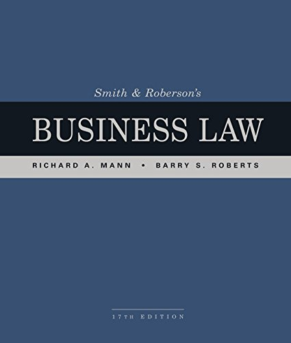 Smith and Roberson's Business Law by South-Western College Pub