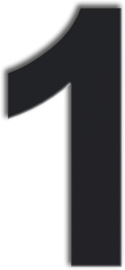 QT Modern House Number - Super Large 12 Inch Black - Stainless Steel (Number 1 One), Floating Appearance, Easy to Install and Made of Solid 304