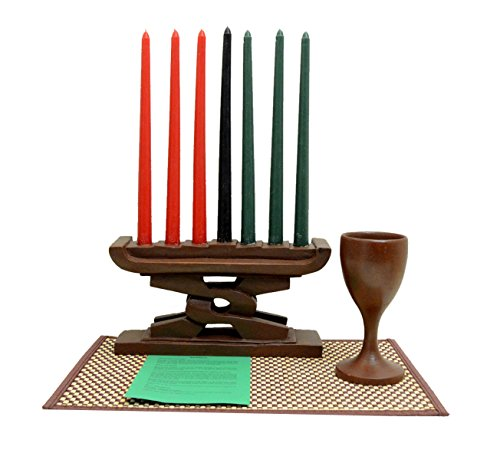 (Kwanzaa Unity Celebration Set (Brown) - Handmade in)