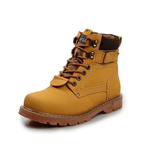 Sun Lorence Men Platform Working Short Boots British Outdoor Winter Chukka Boots Yellow 6h3elmQsCo