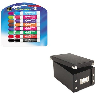 KITIDESNS01577SAN81045 - Value Kit - Snap-n-store Snap 'N Store Collapsible Index Card File Box Holds 1 (IDESNS01577) and Expo Low Odor Dry Erase Markers (SAN81045)