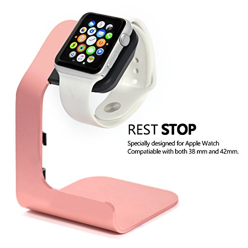 Apple Watch Stand-Tranesca Aluminum Apple watch charging stand for 38mm and 42mm Apple watch-Rose - Serial Smart Cable Cable