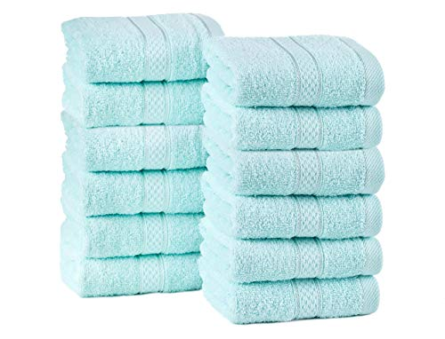 ixirhome Turkish Washcloths Towel Set 24 Piece, Machine Washable, Hotel Quality, Soft and Highly Absorbent (Mint-Cream-Powder) by ixirhome (Image #9)