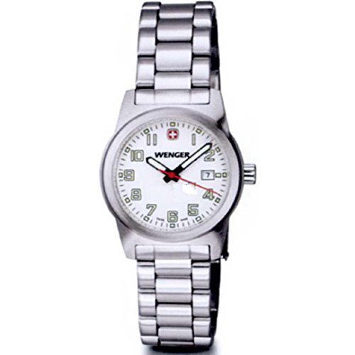 Womens Wenger Field Swiss Military Stainless Steel Date Casual Sports Watch 01.0411.111