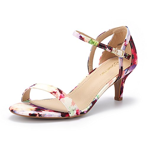 - DREAM PAIRS Women's LEXII Floral Fashion Stilettos Open Toe Pump Heel Sandals Size 8 B(M) US