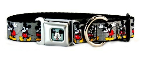 Buckle Down Mickey Mouse Dog Collar Medium Wide, 1 1/2 Inches X 16-23 Inches WDY061-MW