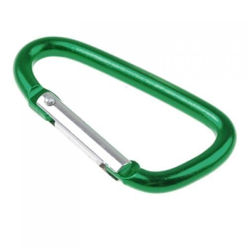 Dcolor Green Carabiner Water Bottle Holder Camping Hiking with Compass