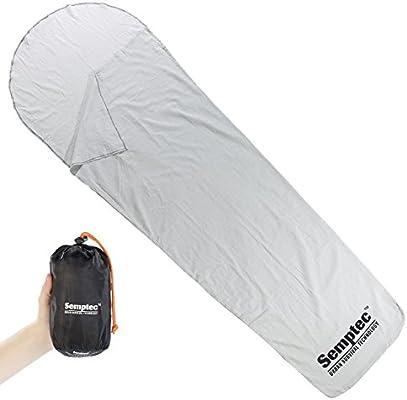 Semptec, forro de algodón forro momia saco de dormir Liner/: Amazon.es: Deportes y aire libre