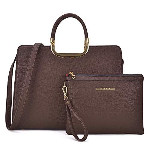 MMK collection Fashion Bamboo handle Handbag for Women with Free Key Chain(2575~Signature fashion Designer Purse~ Beautiful Designer Purse & Women Satchel Purse (XL-19-2828-CF)