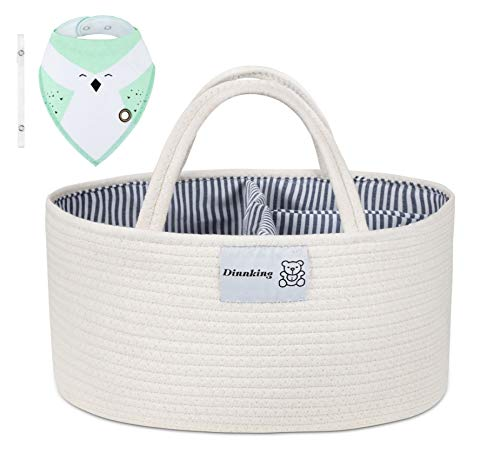 DINNKING Baby Diaper Caddy Organizer