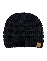 3D-Star C.C Trendy Warm Chunky Soft Stretch Cable Knit Beanie Skully
