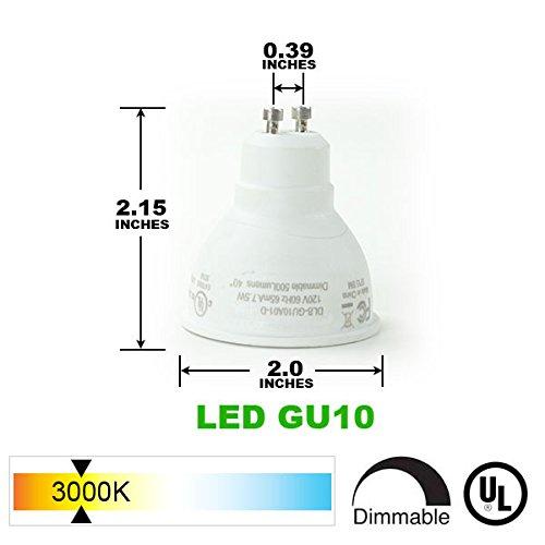 Direct-Lighting Brand H System 3-Lights GU10 7.5W LED (500 lumens Each) Track Lighting Kit White 3000K Warm White Bulbs Included HT-50154L-330K (White) by Direct-Lighting (Image #2)