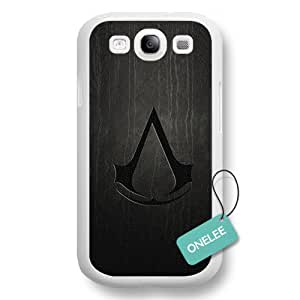 Onelee(TM) - Assassins Creed Logo White Hard Plastic Samsung Galaxy S3 Case & Cover - White 2