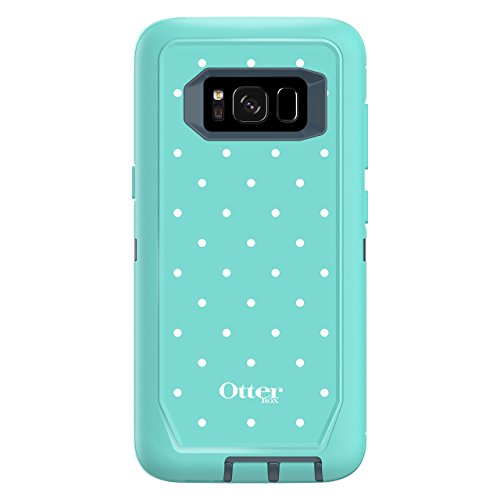 OtterBox DEFENDER SERIES for Samsung Galaxy S8 (SCREEN PROTECTOR NOT INCLUDED) - Retail Packaging - MINT DOT (TEMPEST BLUE/AQUA MINT/MINT DOT) (Certified Refurbished)
