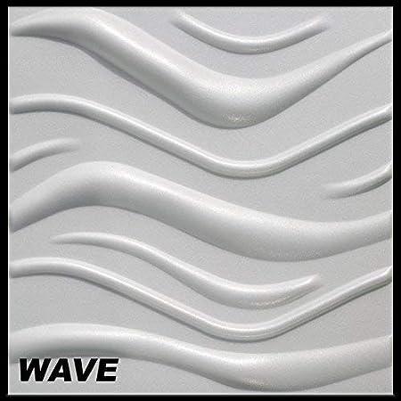 Wave 50/m2/plaques 3D polystyr/ène Panneaux Murale Plafond Mur Plaques 50/x 50/cm
