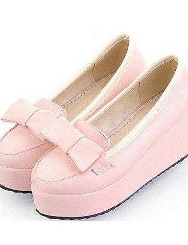 Eu35 Uk6 Cuña us5 Tacón Cn34 Pink Zapatos us8 De Beige Cuñas Mocasines Eu39 Rosa Casual Semicuero Azul Mujer Uk3 Zq Cn39 Pink FZBHIwxqw