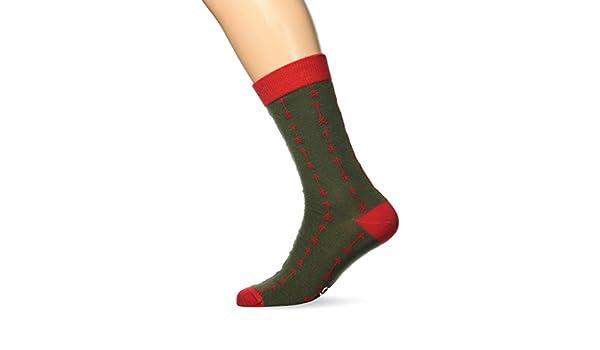Besocks 00091, Calcetines para Hombre, Multicolor (Verde Militar/Rojo), 35/38 (Tamaño del Fabricante:36-40): Amazon.es: Ropa y accesorios