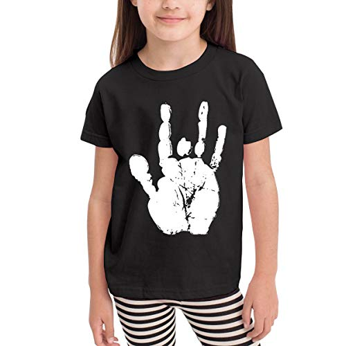 Children's T-Shirt Grateful Dead Jerry Hand Kids Boys and Girls Short-Sleeved Shirt ()