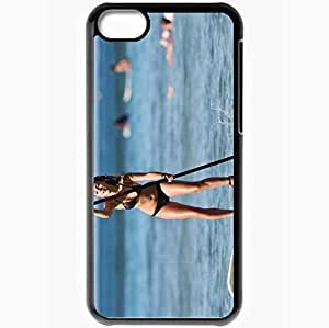 Personalized iPhone 5C Cell phone Case/Cover Skin Annasophia Robb Black