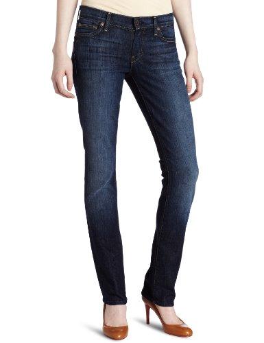 7 For All Mankind Women's Straight-Leg Jean in Nouveau New York Dark, 24