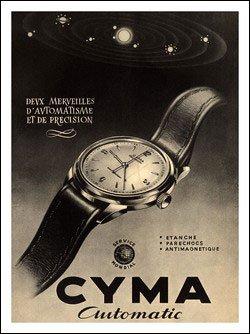 Relojes Cyma, joyería de la vendimia (30 x 40 cm Lámina)