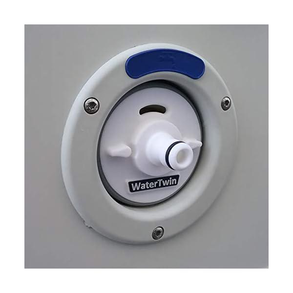 41QEKSkoqrL Wassertankdeckel Adapter mit Anschluss für Gardena System für Wohnmobil, Caravan, Boot mit Überlauffunktion und…