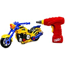 [Patrocinado] Toysery Educational Take-A-Part Motorcycle Toys For Kids with Electric Drill and Power Tools | Build and Rebuild Your Own Motor Bike | Flashing Lights and Realistic Sounds | More than 20 Parts