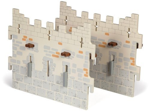 Papo Set 4 Weapon Master Castle (2 Large Walls) by Papo