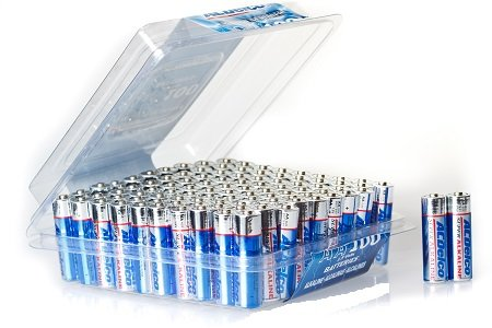(ACDelco AA Super Alkaline Batteries in Recloseable Package, 100 Count)