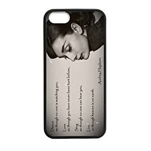Pink Ladoo? Custom Audrey Hepburn Design Personalized Custom Hard Case for iPhone 4 4s Durable Case Cover