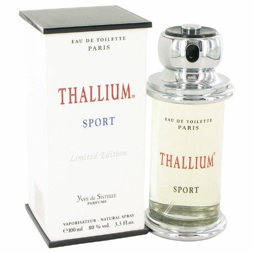 Thallium Sport Cologne by Parfums Jacques Evard, 3.4 oz Eau De Toilette Spray (Limited Edition) for - Cologne Sport Thallium