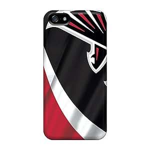 Protector Hard Phone Cover For Iphone 5/5s (LZt4823jAQG) Unique Design Lifelike Atlanta Falcons Image