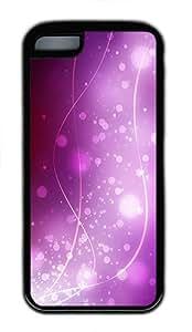 iPhone 5C Case, iPhone 5C Cases -Purple Starlight Background Figure TPU Rubber Soft Case Back Cover for iPhone 5C ¨CBlack